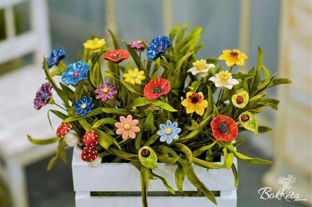 Kerámia virág: Csokortervező - Ezerszín