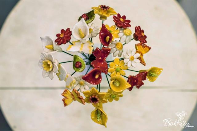 Kerámia virág: Csokortervező - Tavaszi Zsongás