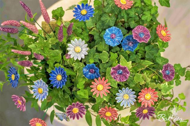 Kerámia virág: Csokortervező - Hajnali Romantika