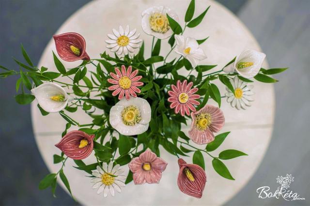 Ceramic flower: Bouquet Designer - Happy Together