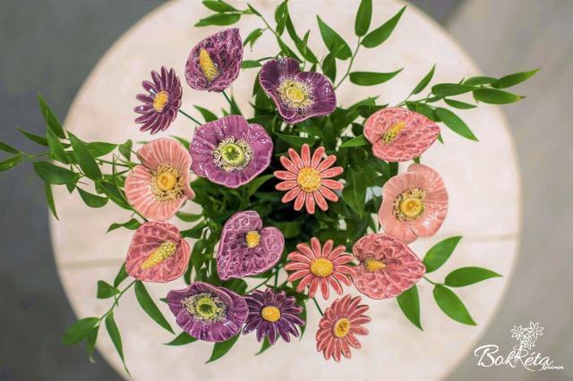 Ceramic flower: Bouquet Designer - Fairy Garden