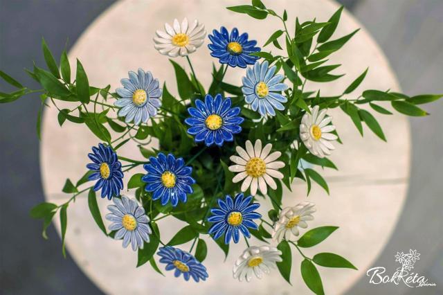 Ceramic flower: Bouquet Designer - Blue Lagoon