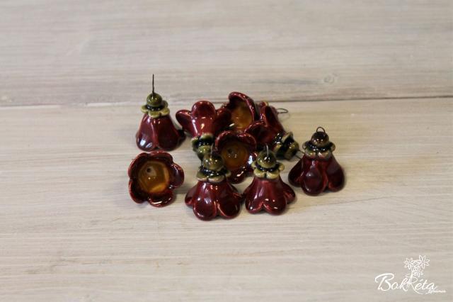Ceramic flower: Little Bellflower Sale Claret -45%