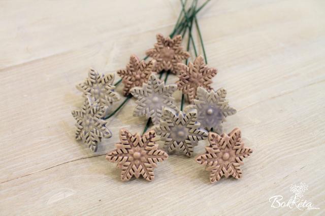 Ceramic flower: Little Snowflake Special Offer 5pcs