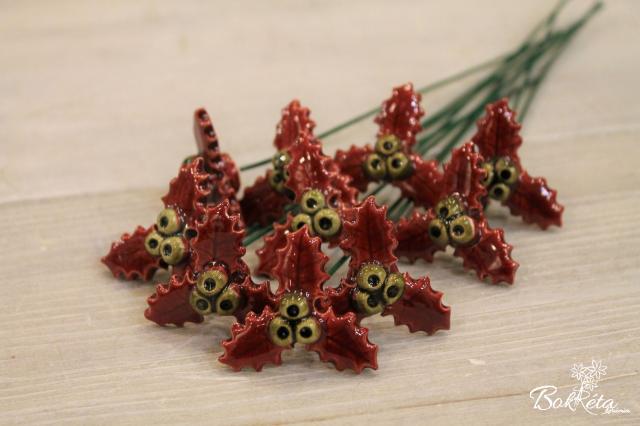 Ceramic flower: Little Holly Special Offer 10pcs
