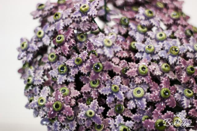 Ceramic flower: Purple Mini Christmas Flower Special Offer 5pcs