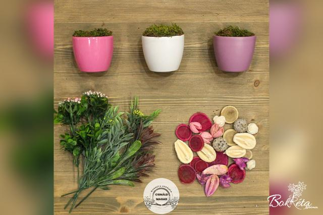 Ceramic flower: DO IT YOURSELF - Mini Centerpiece - pink, white, purple
