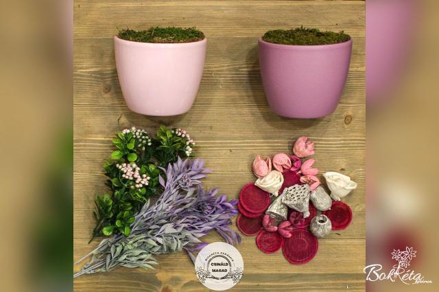 Ceramic flower: DO IT YOURSELF - Large Centerpiece - pink, purple